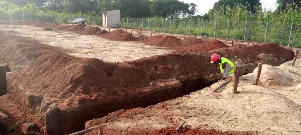 Chicken house foundations hole